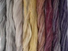 Carpet of Leaves Gradient Pack- Blended Spinning Fibre, Gradient Roving Set Teal Yellow, Red Purple, Seamless Transition, Spinning, Fiber, Carpet, Packing, Leaves, Color