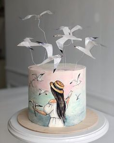 """We have collection of stunningly beautiful cake decorating to help inspire your baking passions and delight to the guest of honor. Take a look at the gallery board """"Cake Designs"""" Cricut Cake, Creative Cake Decorating, Creative Cakes, Decorating Cakes, Novelty Birthday Cakes, Novelty Cakes, Fondant Cakes, Cupcake Cakes, Birthday Cake For Daughter"""