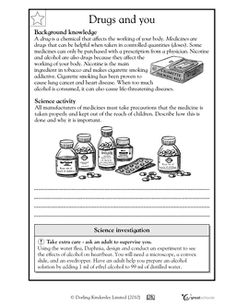 Worksheets Drug Education Worksheets pinterest the worlds catalog of ideas all drugs come with safety warnings in this science worksheet your child learns about on medications and harmful drugs