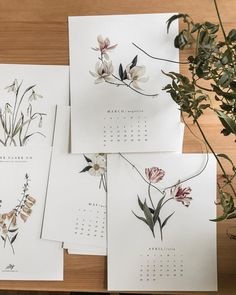 Likes, 14 Comments - Esther Clark Custom Calendar, Art Calendar, Calendar Design, Personalized Stationery, Planner, Diy Wall Art, Botanical Art, Lettering, Illustrations