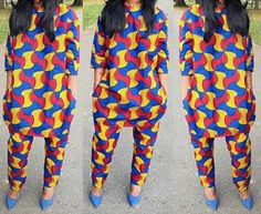 African Print Overall Top and Matching Pants by Zizibespoke