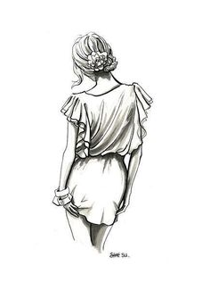 Fashion illustration pencil simple new Ideas Pencil Art Drawings, Art Drawings Sketches, Cool Drawings, Sketch Drawing, Sketching, Hipster Drawings, Illustration Mode, Illustrations, Illustration Fashion