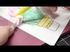 [Watch It Wednesday] Easy Color Blending with ZIG Clean Color Real Brush | Waffle Flower Crafts