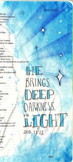 Creative Journaling by Karlie Winchell - I think this is my favorite style. Scripture Art, Bible Art, Bible Verses Quotes, Bible Scriptures, Prayer Quotes, Job Bible, Bibel Journal, Book Of Job, Bible Doodling