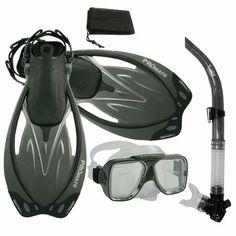PROMATE Snorkeling Scuba Dive Snorkel Mask Fins Gear Set/ SCS0014 - http://scuba.megainfohouse.com/promate-snorkeling-scuba-dive-snorkel-mask-fins-gear-set-scs0014.html/