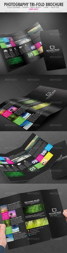Buy Photography Tri-fold Brochure by Realstar on GraphicRiver. CMYK Colors 300 DPI x x with bleeds)Fully Editable FilesPrint Ready FilesImages are not inclu. Flyer Design Templates, Print Templates, Brochure Template, Stationery Printing, Stationery Design, Form Design, Web Design, Photography Brochure, Brochure Inspiration