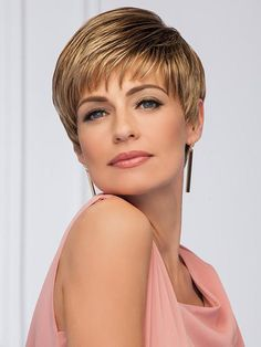 Classic Short Pixie Cut Wig With Bang Crown Hairstyles, Pixie Hairstyles, Gabor Wigs, Pixie Cut Wig, Natural Hair Styles, Short Hair Styles, Great Haircuts, How To Lighten Hair, Wigs With Bangs