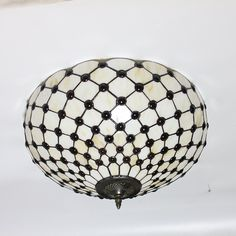 16-Inch European Retro Style Tiffany Stained Glass Flush Mount Ceiling Light Dining Room Light - - Amazon.com