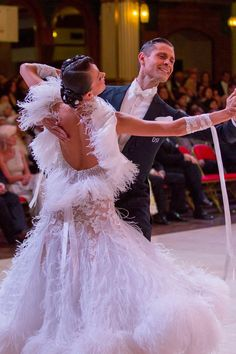 Our DSI Elite Performers Valerio Colantoni & Yulia Spesivtseva at the Blackpool Open British Championships. Wearing a DSI London Couture Ballroom dress and tail suit