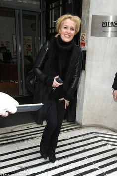 Still got it! Gillian Anderson cut a stylish, youthful figure as she left the BBC's Broadc...