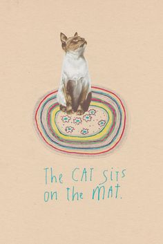 The Cat Sits on the Mat - Holly Leonardson