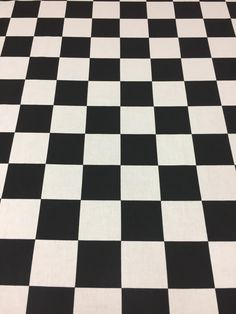Cotton fabric black and white panes, squares, by SanFabric on Etsy
