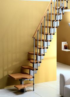 Misterstep Gamia Mini Plus Space Saving Stair Kit - Natural colour option # From £725.00 + VAT