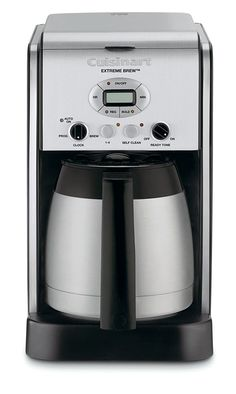 Cuisinart DCC-2750 Extreme Brew 10-Cup Thermal Programmable Coffeemaker, Silver Dual Coffee Maker, Coffee Maker Machine, Espresso Machine, Coffee Machines, Charcoal Water Filter, Coffee Accessories, Fresh Coffee, Drip Coffee, Coffee Type