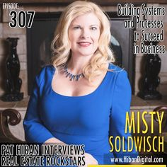Misty Soldwisch has been in the real estate business for 16 years, owned an office for 8 years, and started seriously building her team 3 1/2 years ago. She was named the #1 team leader in her RE/MAX region (Iowa/Nebraska) for the last 3 years in number of transactions... #realestate #podcast #pathiban #hibandigital #hibangroup #HIBAN #realestatesales #realestateagent #realestateagents #selling #sales #sell #salespeople #salesperson #mistysoldwisch #misty