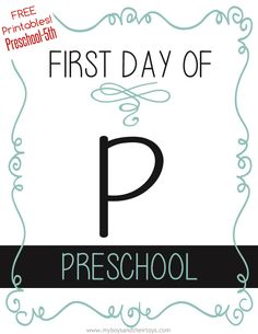 Grab these FREE First day of School sign printables for preschool-5th grade!