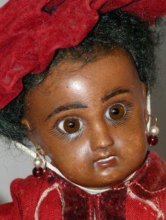 Black Jumeau antique doll