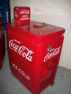 A vintage Coke machine restored by Rick's Restorations in Las Vegas, NV (yes the American Restorations guy) - People who rescue this stuff are true heroes as far as I am concerned - they are saving our history for future generations.