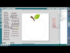Silhouette: Creating an Apple Word Art Graphic (Part 1) ... awesome!