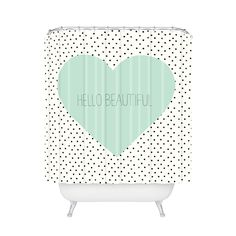 Beautiful Inside and Out Shower Curtain | dotandbo.com