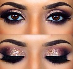 Stunning eye makeup!