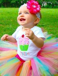 1st Birthday Cupcake Onesie Tutu Outfit FREE Hair Bow Personalize #Handmade #Dressy 49.99
