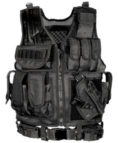UTG Comfortable Sportsman Law Enforcement Tactical Scenario Adjustable Vest New