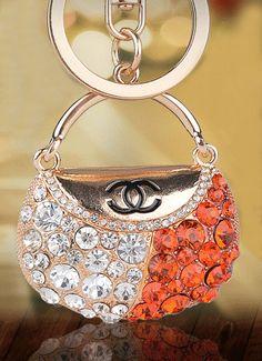 Keychain Chanel  bag for keys,keychain for bag, chain and ring carabiner keychain, charm  bag, day gift ideas birthday - KEY  013