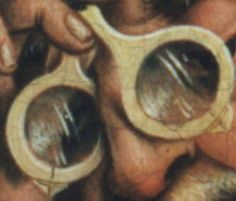 1466 German: Detail of St. (Wondering if I could order a cheap pair of Lennon-style round glasses online, and make my own frames that look like this). Ancient History, Art History, Renaissance, German Outfit, Medieval Life, Good To See You, Medieval Costume, 11th Century, Medieval Clothing