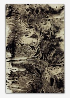 Anja Schwörer [Germany] (b 1971) ~ Bleach on cotton. | #art #painting #abstract #expressionism