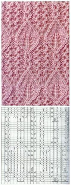 Stricken Lace Knitting Pattern with Leaves Nr Lace Knitting Patterns, Knitting Stiches, Knitting Charts, Knitting Designs, Knitting Projects, Knitting Socks, Baby Knitting, Stitch Patterns, Knit Stitches