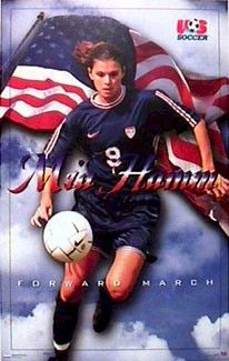 mia hamm she has scored more international goals in her career than any other player male or female in the history of us soccer 158
