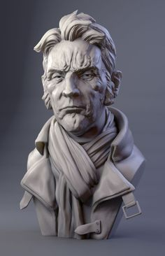 Today fantastic digital sculptures by James W Cain will be highlighted. Sculpture making has become an art that can be chosen usually for hobby or Zbrush Character, Character Modeling, Character Art, Sculpture Head, Lion Sculpture, Sculpture Portrait, Digital Sculpting, Modelos 3d, Pablo Picasso