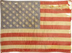 love the look of ths old flag  to incorporate into home decor, fashion, or wd's room (or even outdoor spaces, especially for patriotic holidays).