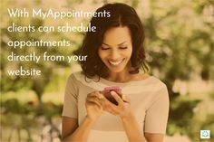 With MyAppointments clients can schedule appointments directly from your website. https://www.facebook.com/MyAppointment/