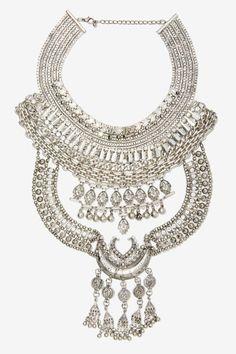 at nasty gal Drama Queen Rhinestone Collar Necklace
