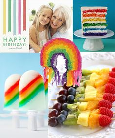 rainbow birthday interested in the fruit skeweres and want to know how to make the popsicles