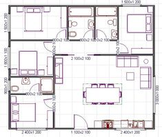 plano de casa cuadrado