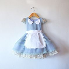 Alice in Wonderland Dress with Petticoat and Apron 2T