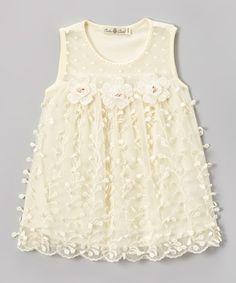 Love this Yellow Lace Shift Dress - Toddler & Girls by Bijan Kids on #zulily! #zulilyfinds