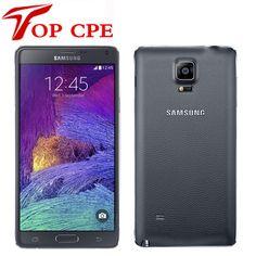 Refurbished Note4 Original Unlocked Samsung Galaxy Note 4 N910A N910F N910P LTE Smartphone 5.7 inch 16MP 3GB 32GB Mobile Phone