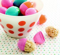 Delicious rice krispie easter eggs