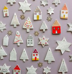 Clay Christmas Decorations, Holiday Crafts, Holiday Fun, Christmas Ornaments, Christmas Clay, Homemade Christmas, Christmas Time, Best Christmas Gifts, Christmas Presents
