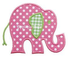015 Elephant Machine Embroidery Applique Design