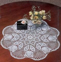 Free pattern for this crochet doily….
