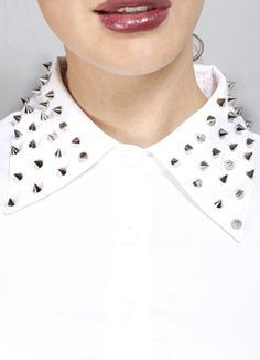 Shirt with studs, remembering when I was 15 and loved studded things :°