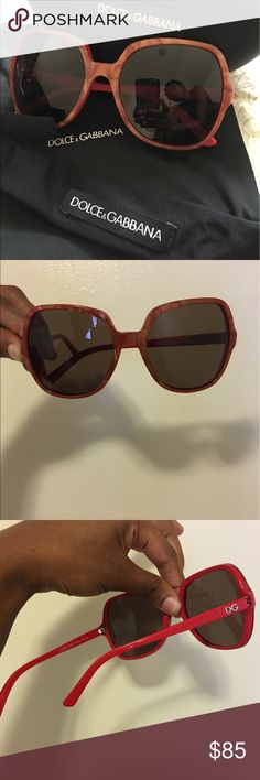 DOLCE AND GABBANA SUNGLASSES . COMES WITH SOFT STRAPS, CLEANING CLOTH AND CASE. Worn less than a dozen times simply because they don't suit my face. I love the color combo and the subtle turtle shell print however I would also LOVE for someone to take these off my hands as they are high quality, sturdy frames that block out lots of sunlight and they deserve to be worn! Help me find them a new home 😅🙏🏽💝💕 Dolce & Gabbana Accessories Sunglasses