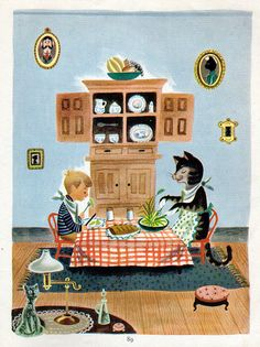 American Illustrator J.P. Miller {1913 - 2004} Did some early animations for Walt Disney.