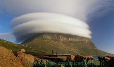 Table Mountain, Cape Town, South Africa.  Amazing Clouds !!