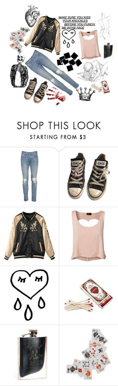 """""""be a part of the love club, everything will glow for you, go get punched for the love club"""" by human4tonight ❤ liked on Polyvore featuring Levi's, Converse, Club L, In God We Trust and AllSaints"""